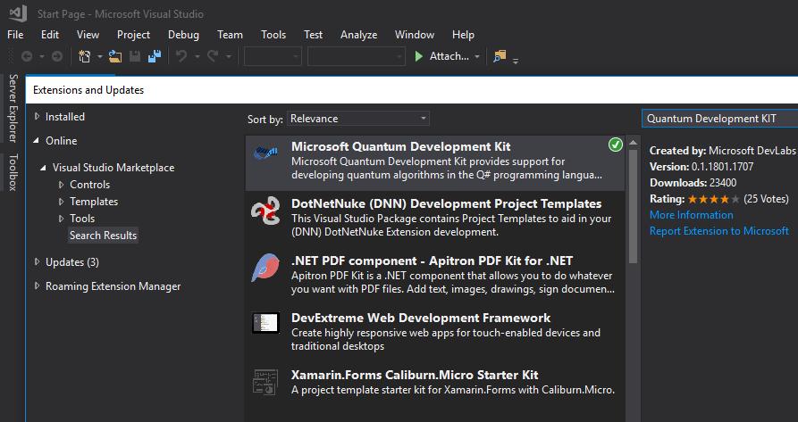 QSharp Dev KIT install